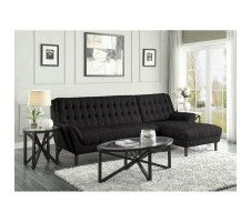 Ariel 2pc Sectional in black