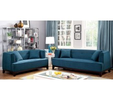 Enez Sofa and Loveseat in blue