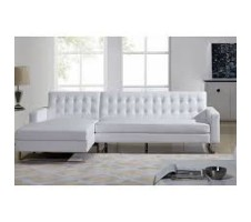 Clovis Sectional in white