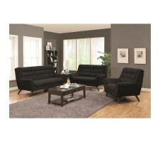 Circa 2pc. Sofa and Loveseat in black