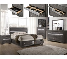 Regata 4pc. Queen Platform Bedroom set with Drawers