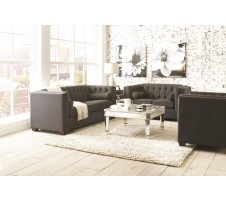 Hampshire 2pcs Sofa and Loveseat- charcoal