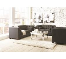 Hampshire 2pcs Sofa and Loveseat- charcoal