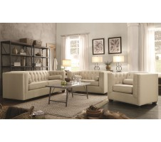 Hampshire Sofa and Loveseat in Oatmeal