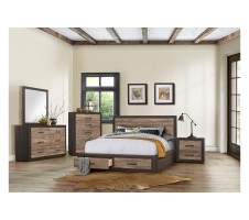 Miter 4pc. Queen Platform Bedroom set with Storage