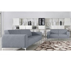 Royce Modern Sofa and Loveseat Set in grey