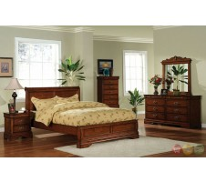 Willow Creek 4pc. Queen Bedroom Set in oak