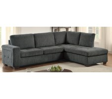 Colby 2pc Sectional with Full Sleeper mattress