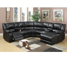 Carmon 5pc, Reclining Sectional with Consoles