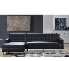 Clovis Sectional in black