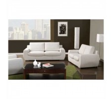 Talon 2pc. Sofa and Loveseat in white