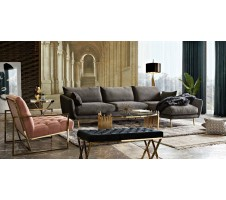 Vantage Sectional in Dark Grey by Diamond Sofa