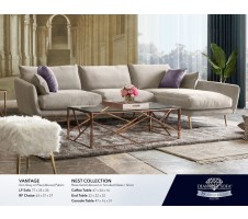 Vantage Sectional in Light Grey by Diamond Sofa