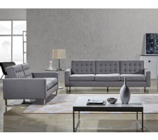 Clovis Sofa and Loveseat set - grey