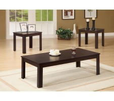 Korina  Dark Brown 3 Piece Coffee /End Table Set