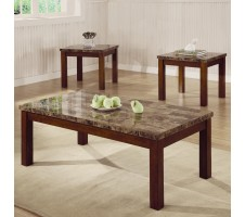 Arden 3 Piece Marble Look Top Coffee/End Table Set