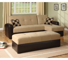 5775 Lakeland Sand Reversible Adjustable Sofa w/ Storage