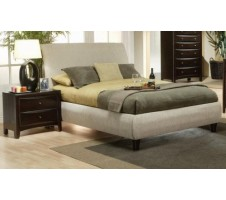 Darcy Beige Fabric Queen Bed