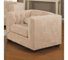 Alexis Almond Microvelvet Chairs And Recliner