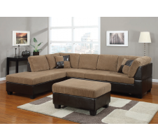 Brooke Sectional in light brown