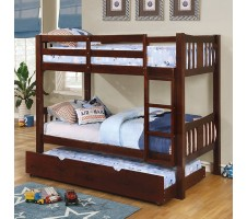 Cameron Twin / Twin Bunk Bed - Brown