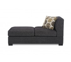 Damascus Chaise - Charcoal