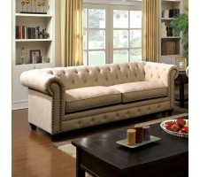 Chesterfield Sofa in ivory