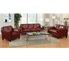 Madrid Sofa and Loveseat set -red