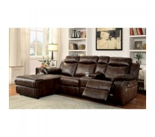 Hardy Sectional with Console and Push Back Chaise