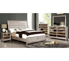 Golva Contemporary Queen Silver Bed Frame