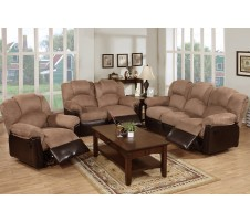 Saddle 2pc. Reclining Sofa and loveseat
