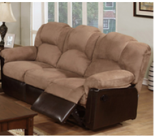 Saddle reclining sofa