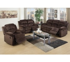 Samantha 2pc Reclining Sofa and Loveseat