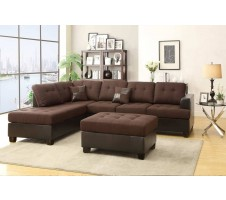 Promenade Sectional & Ottoman (chocolate)