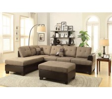 Promenade Sectional & Ottoman (tan)