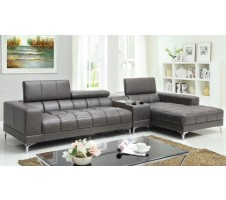 Sunburst Sectional with Console Speakers