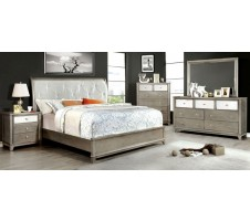 Bryent 4 Piece Queen  Bedroom set in silver
