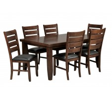 Bradford 7 Piece Dining Set W/ 6 Bardstown Side Chairs