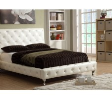 Infinity Crystal Tufted Platform Bed (white)