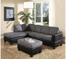 Laurent Reversible Sectional w/Ottoman