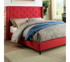 Malibu Wing Back Bed Frame -red