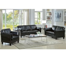 Madrid Sofa and Loveseat set black