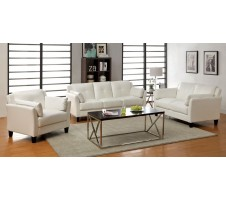 Madrid Sofa and Loveseat set -white