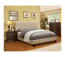 Perdel Fabric Low Profile Platform Bed
