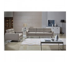Clovis Linen Fabric Sofa and Loveseat