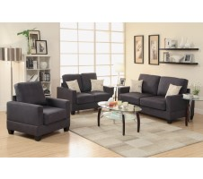 Maguire 3pc Sofa, Loveseat, Chair in Ebony