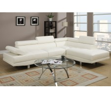 Jezebel 2pc. Sectional - White