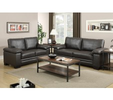 Kaylan Leather Sofa and Loveseat