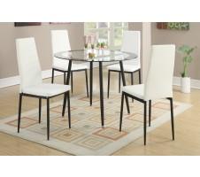 Arlo 5 Piece Dining Set - White
