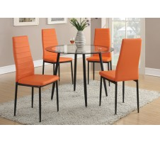 Arlo 5 piece Dining Set (orange)